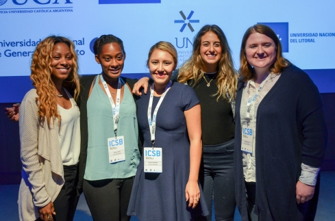 Graduate students of International Communication at the International Council for Small Business 2017 Competition. Photo by: Institute for International Communication